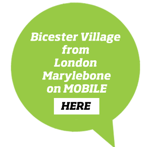 Book tickets to Bicester Village from London Marylebone with this button on a mobile