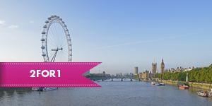 The London Eye with 2for1 entry when you travel by rail