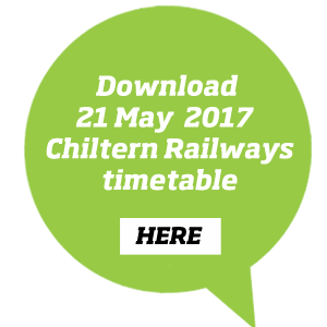 Download the December 2016 Chiltern Railways timetable here