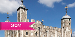 The Tower of London with 2 for 1 entry when you travel by train