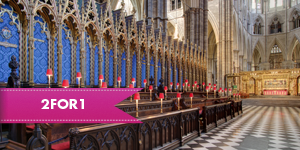 Westminster Abbey with 2for1 entry when you travel by rail