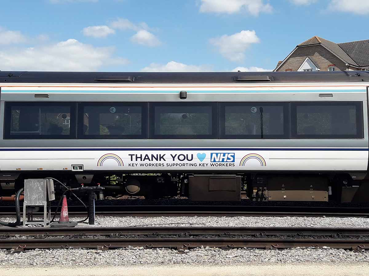 Chiltern Railways pay tribute to key workers with specially branded train