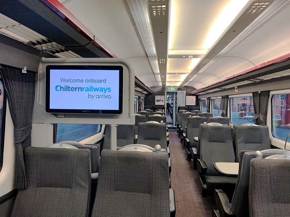 Improvement works completed on Chiltern Railways silver set trains