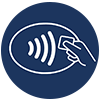 If you can't book your ticket online, use contactless payment where possible