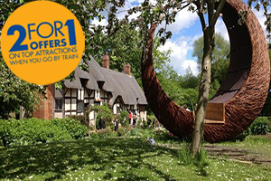 2FOR1 offer on Anne Hathaway's cottage with Chiltern Railways