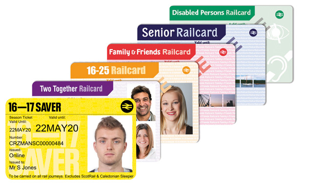 Examples of rail cards