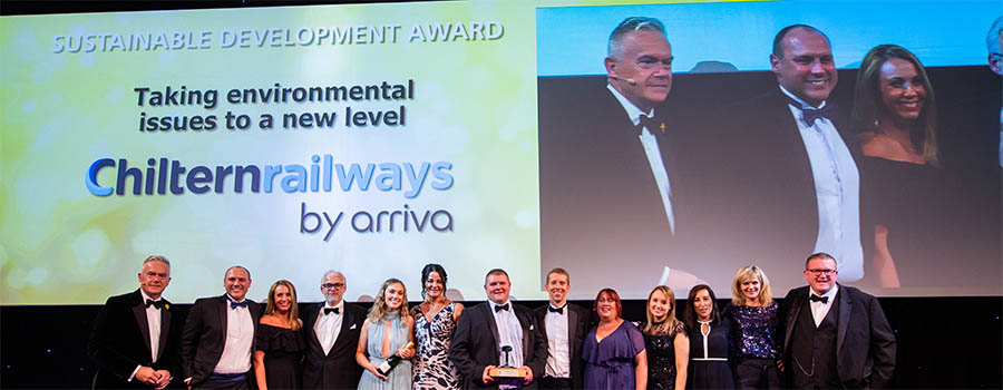 Chiltern Railways wins Sustainable Development Award at National Rail Awards