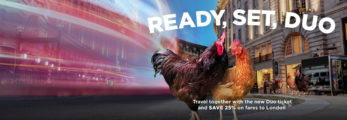 Buy one ticket and get the second ticket half price with the Duo ticket from Chiltern Railways