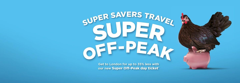 Super Savers travel super off-peak