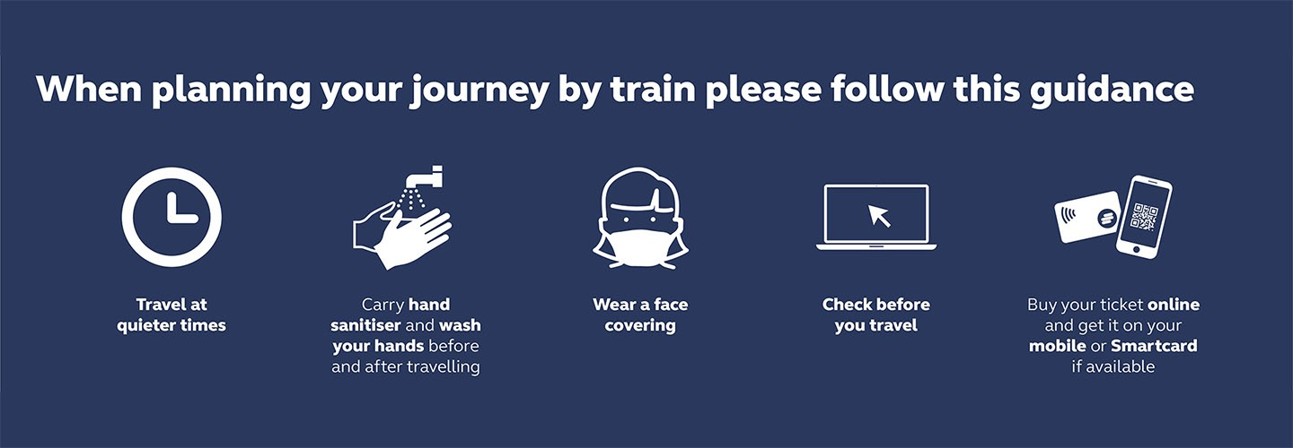 When planning your journey by train please follow our guidance