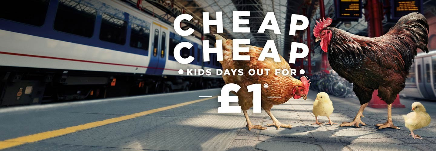 Cheap! Cheap! Kids travel for £1 when you buy a family travelcard with Chiltern Railways