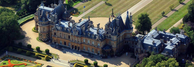 Aerial image of Waddesdon Manor